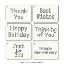 Artistic Flair Tabs Stencil - Sentiment Tabs